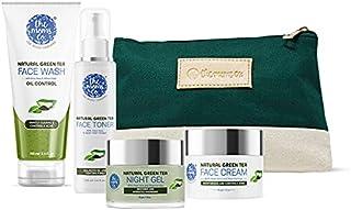 The Moms Co. Oily Skin Complete Care Kit l Oil Free Look l Green Tea l Face Wash l Toner l Cream l Night Gel l Free Vanity...