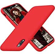 Cordking iPhone XR Case for Women, Silicone Ultra Slim Shockproof Phone Case with [Soft Anti-Scratch Microfiber Lining], 6.1 inch, Red