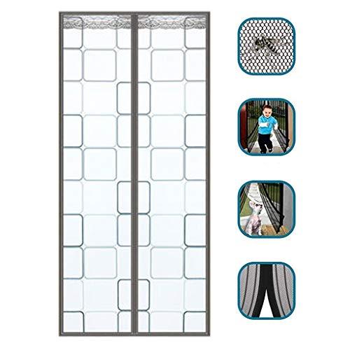 Magnetische hor voor deuren, super sterke glasvezel, in elkaar grijpbaar, heavy duty gordijn met full frame, haken en strik, sterke magneten, vastklikken, automatisch voor P 120mc*220cm