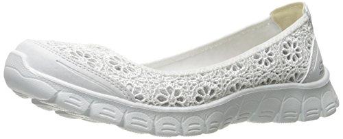 Skechers Sport Ez Flex 3.0 Majesty Fashion Sneaker da Donna, Bianco (Bianco), 39 EU