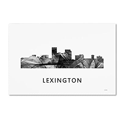 Trademark Fine Art MW0451-C1219GG Lexington Kentucky Skyline WB-BW by Marlene Watson