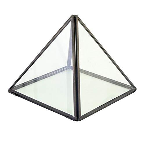 TOOGOO Box Hochzeit Ehering Box Geometrische Klar Glas Schmuck Schatulle Sukkulente Luft Pflanze Pflanzer Box Topf/Andenken Anzeige