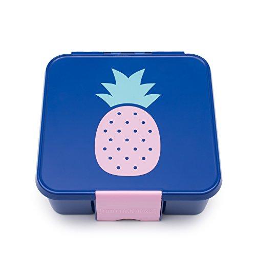 Little Lunch Box Co., Brotdose für Kinder mit Unterteilungen | Bento Box (Bento 5 - Ananas)