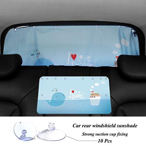 ZATOOTO Sonnenschutz Heckscheibe Auto - Sonnenschutz für Heckscheibe zur Verhinderung von UV-Strahlen, bietet Privatsphäre mit abnehmbaren Saugnäpfen, Universal Fit