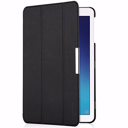 EasyAcc Hülle für Samsung Galaxy Tab E 9.6 T560N/T561N - Ultra Schlank PU Leder Cover Superleicht mit Standfunktion Kompatibel für Samsung Galaxy Tab E T560N/T561N 24,3 cm (9,6 Zoll) Tablet (Schwarz)