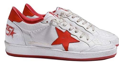 VCEGGDB Zapatillas de deporte de los hombres de los entrenadores de los deportes antideslizantes ocasionales, color Rojo, talla 40 2/3 EU