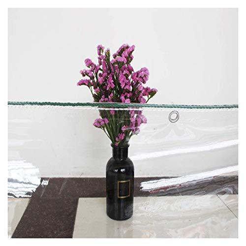 ALGWXQ Lona Impermeable Transparente con Ojal Durable Carpa A Prueba De Lluvia Y Viento Lona De PVC Usado para Jardín, Tienda, Almacén, 2 Espesores, 22 Especificaciones (Color : 0.5mm, Size : 1x1m)