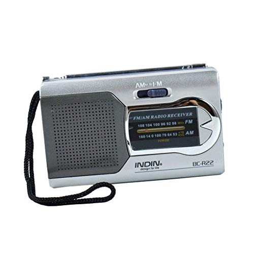 Mini draagbare radio Handheld digitale AM / FM telescopische antenne radio-ontvanger voor wandelen reizen