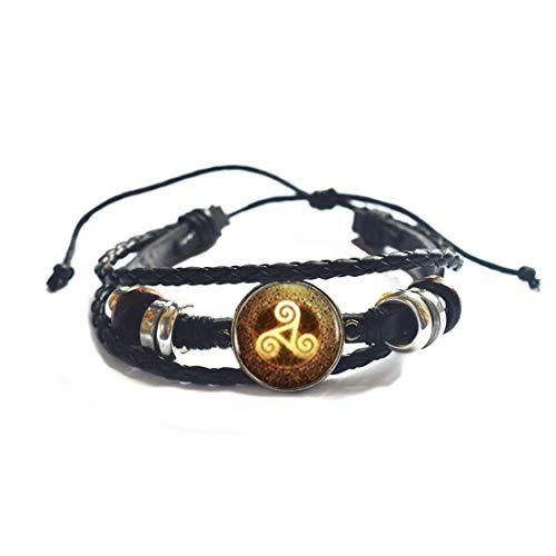 Pulsera única natural y perfecta de Triskelion de oro, pulsera de Triskelion para mujer, joyería amiga Triskele, pulsera de triskelion para hombres, PU026