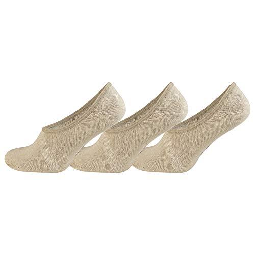 TippTexx24 6 Paar Bambus Sneakersocken (Sneaker Socken) oder Füßlinge (35/38-6 Paar, Füßl-beige)
