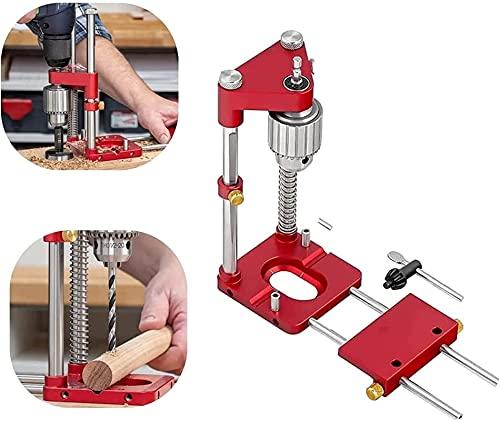 Posicionador de perforación ajustable Posicionador de la herramienta de la herramienta de madera, Mini Banco Máquina de prensa de perforación con alta velocidad, Mini Banco Ajustable Máquina de prensa