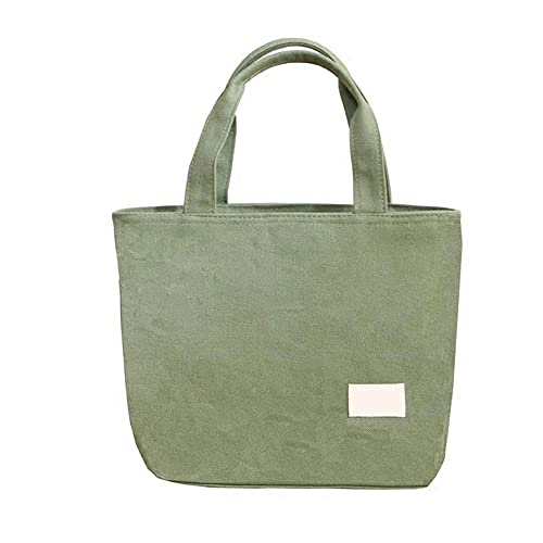Qeujhkal Bolsa de almuerzo, reutilizable, lonchera, lonchera, lonchera, ideal para mujeres, hombres, escuela, oficina, tamaño: 21 x 12 x 23 cm (color: verde)