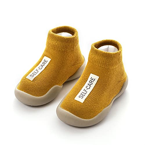 Unisex Baby Shoes First Shoes Baby Walkers Toddler First Walker Baby Girl Kids Soft Rubber Sole Baby Shoe Knit Booties Anti-Slip Comfortable (Baby Age : 12-18 Months, Color : CYZZ00L-Y)