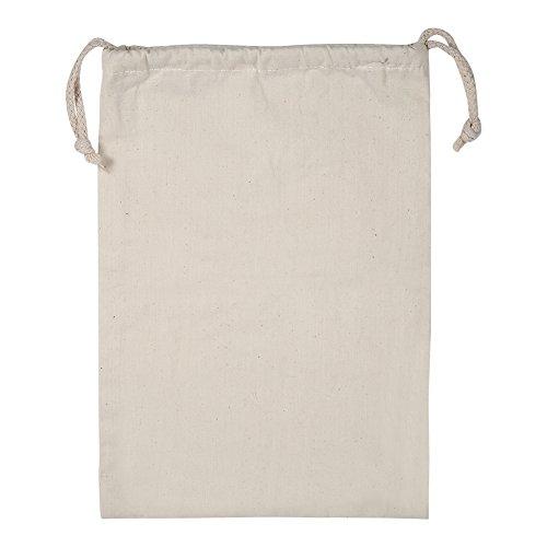Zerodis Confezione da 2 Sacchetti con Cordino in Cotone, Sacchetto di Stoffa per Sacchi da Sacco di Stoccaggio in Cotone Normale per Uso Domestic(22 * 28cm)