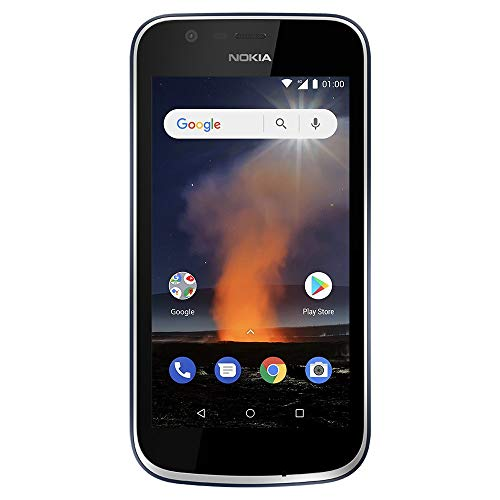 Nokia 1 - Android One (Go Edition) - 8 GB - Dual SIM LTE Unlocked Smartphone (AT&T/T-Mobile/MetroPCS/Cricket/H2O) - 4.5' Screen - Dark Blue