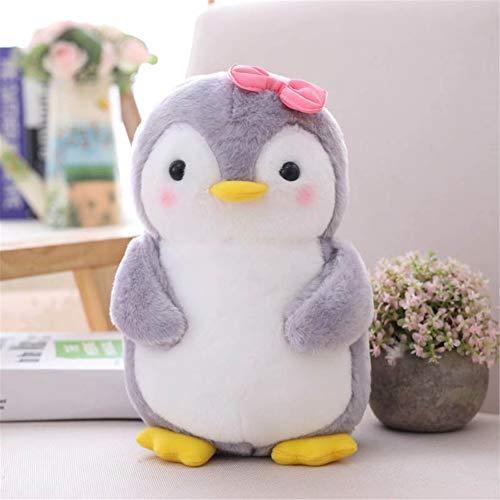 Nicole Knupfer Pinguin Stofftier Plüschtier, Pinguin Kuscheltier Tier Kissen Geschenk Für Kinder/Erwachsene (Pinguin mit Schleife,25 cm)