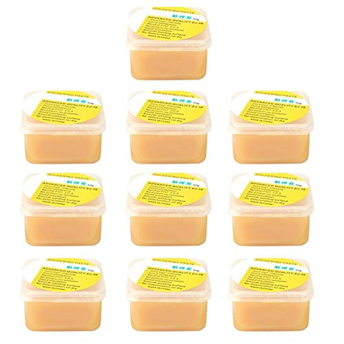 Fundente de soldadura, fundente de soldadura de colofonia, 50 g/caja fundente de soldadura de colofonia Pasta de grasa de soldadura Crema de soldadura Herramienta de reparación