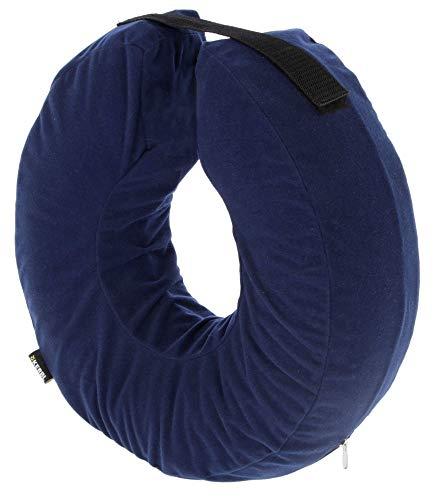 Kerbl Maxi-Pet 80834 Hundehalskrause, aufblasbar, blau, Halsumfang 18-30 cm