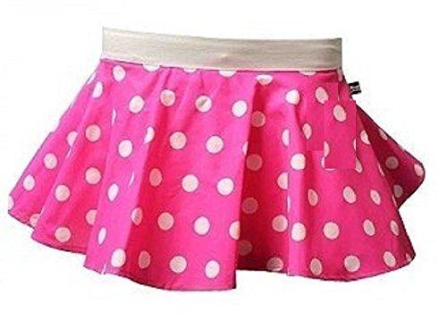 Meisjes Roze met Witte Vlekken Polka Dot Circulaire Rok leeftijd 5 tot 8 jaar