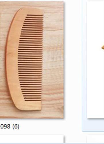 Zer Peigne de poche antistatique en bois de pêche