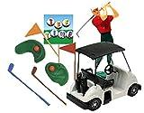 Item#39329B - Golf Cart Golf Man and Golf Cart & Golf Sign Cake Decoration Cake Topper Kit