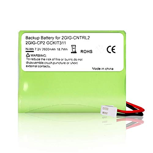 Rfeng Replacement Battery for 2gig BATT1X BATT2X BATT1 GC2 2GIG-CNTRL2 2GIG-CP2 GCKIT311 Go Control Panel Security System Alarm 6MR2600AAY4Z 10-000009-001