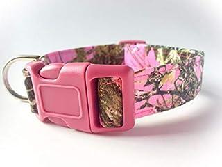 Pink Camo MC2 Dog Collar with Leash Option