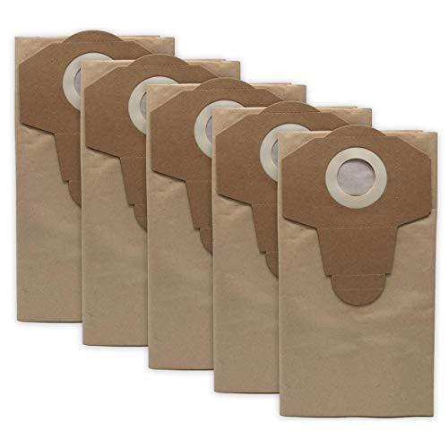 Bolsas de papel con filtro de papel para aspiradora Parkside húmedas PNTS 1200, 1250, 1300, A1, B2, C3, E4, F5, 20 litros