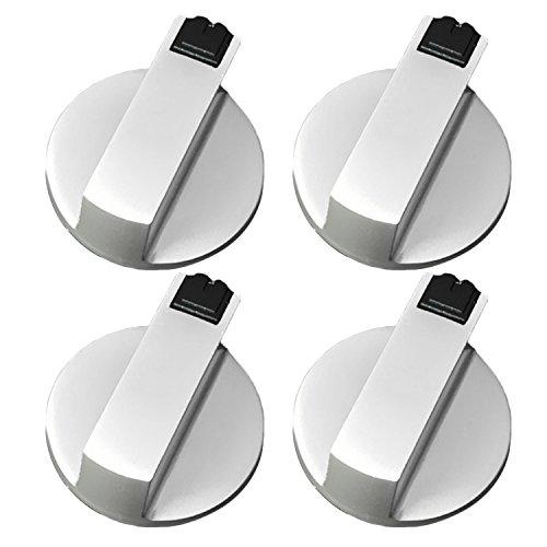 4 Piezas Botón del Horno de Cocina, Gosear universal metal interruptor giratorio perillas de control accesorios de reemplazo para cocina estufa de gas horno estufa (Diámetro 8mm)