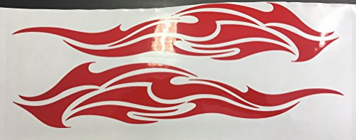 2x Autoaufkleber Motorrad Seitenaufkleber Truck LKW Aufkleber Car Design Tribal Shocker Futur 30cm in rot
