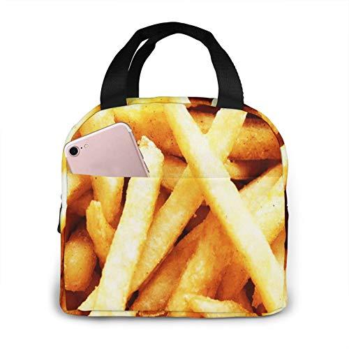 Bolsa Termica Comida Trabajo Almuerzo Porta Alimentos Infantil Niños Oficina Bolsa Calor Hombres Mujer Dieta de papas fritas