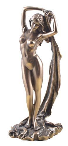 Unbekannt Weiblicher Akt Frau hält Ihr Tuch über den Kopf Figur Skulptur