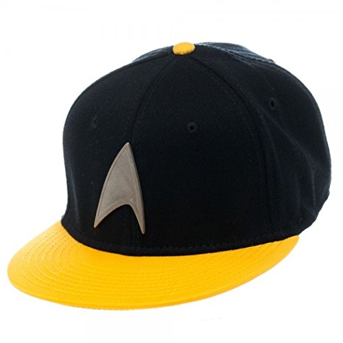 Star Trek Metal Badge Yellow Snapback Baseball Cap