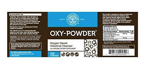 Health Shopping Global Healing Center Oxy-Powder Colon Cleanse Detox – Oxygen Based Safe and
