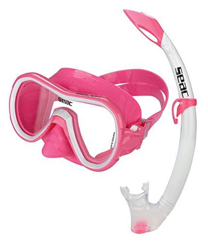 Seac Set tot Lillio MD Color Set Combo voor dames Snorkeling en imitatie, Sub Lilie MD en mondstuk Tribe, 100% bont siliconen