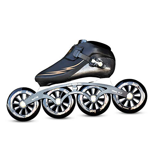 UYBAG Professional Speed Skates Shockproof Wear Resistant Roller Skates for Men and Female 4 X 90/100/110mm Wheels Carbon Fiber Inline Skate Shoes Outdoor Motion Best Choice,37