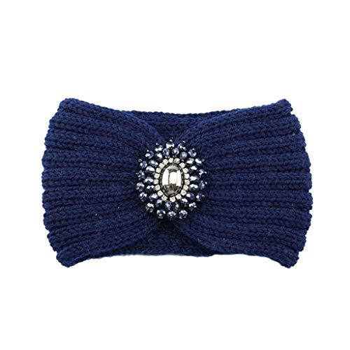 Femmes Bandeau à Tricoter Chaud Hairband Headband Bluestercool (Marin, Taille unique)