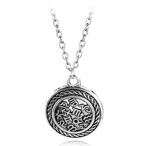 Gotische Halskette Geheimnisvolles Symbol Kombination Türkischer Schmuck Nordischer Wikinger Anhänger Halskette Männer Schmuck