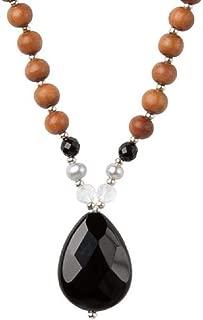 Tiny Devotions 108 Mala Beads Strength Onyx Necklace