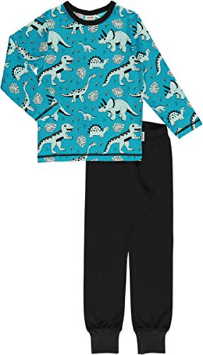 Maxomorra Meyadey Kollektion Jungen Schlafanzug Pyjama Dino Forest (98/104)