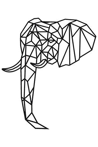 Hansmeier® Wanddeko aus Metall | 70 x 58 cm | Wasserfest | Für Außen, Innen, Balkon & Garten | Metalldeko | Deko Industrial | Motiv Elefant