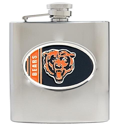 Chicago Bears NFL 2pc Rocks Glass Set - Helmet logo