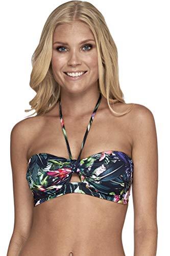 Jets Australia Arcadia Halter Tie Bandeau Bikini Top Size AUS 12 (US 8) Black
