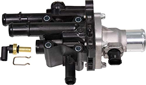 APDTY 4221217 Thermostat Includes Water Outlet Housing, Gasket & 2 CTS Coolant Temp Sensor Replaces 15-81766, 25189437
