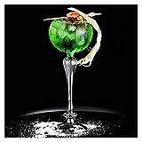 Bicchieri da barware Champagne Coupe - Set di 2, bicchiere di vino di cristallo, servire un manhattan, martini, aperitivo, algonquin o vino porto chyus