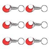 Llaveros, bolso, llavero, decoración, tenis de mesa, forma de llavero, decoración, cadenas para campeones para estudiantes