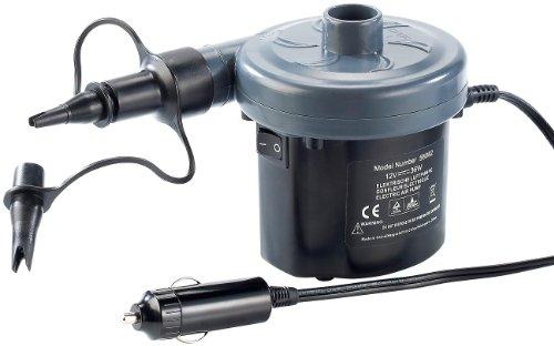 infactory 12 Volt Luftpumpe: Elektrische Luftpumpe mit Variabler Stromversorgung, 12/230V (Elektrische Luftpumpe Auto)