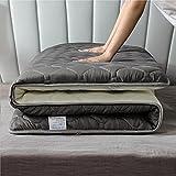 Colchón De Rollito Plegable, Colchón De Piso Japonés Futon Tatami Colchón De Dormir Almohadilla,Gris,90x190cm