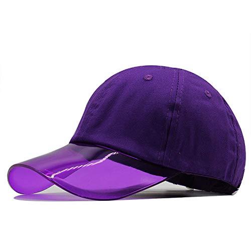 YYLKKB Casas Casuales y Gorras de béisbol de la Mujer All-Match Street Ajustable Sombrilla de Sombrero de la Moda Sombreros de béisbol-púrpura_Ajustable