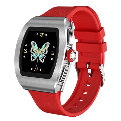 FZXL M13 Smart Pair Uhr Weibliche Android Herzfrequenz Monitor Weibliche physiologische Symptome Wetter Push IP68 Laufsport Geeignet für iOS Android,B